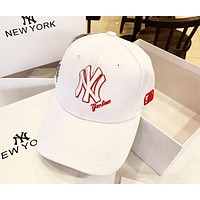 MLB 2019 new embroidery classic NY letter men and women sports baseball cap white