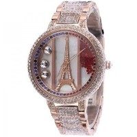 Melissa Luxury Ladies Diamond Eiffel Tower Watch