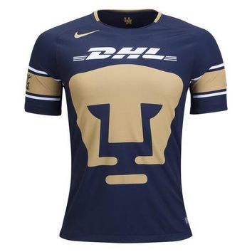 KUYOU Mexico Pumas UNAM 2017/18 Home Men Soccer Jersey Personalized Name and Number