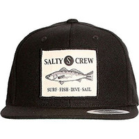 Salty Crew Seabass Patch Cap - Black - One size fits all