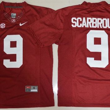 NIKE  Alabama Crimson Tide Bo Scarbrough 9 College  Ice Hockey Jerseys Limited Jersey - Crimson Size S,M,L,XL,2XL,3XL