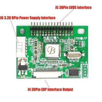DCKL9 3.3V 30 Pin LVDS Turn To EDP Signal LCD Converter Conversion Controller Board for 1920
