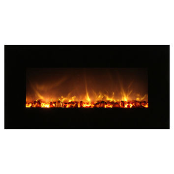 "Modern Flames 43"" Built-in/Wall Mounted Electric Fireplace - No Heat (FF43/BILV)"