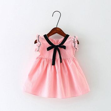 2017 summer girl baby clothes outfit brand cotton dresses for infant baby girls cute clothing dancing princess dresses dress