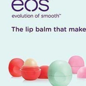 Eos Organic Smooth Sphere Lip Balm 6 pack Summer Fruit, Sweet Mint, Strawberry Sorbet 2 of Each Body Care / Beauty Care / Bodycare / BeautyCare