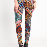 HAUTE TRIBAL PRINT LEGGINGS