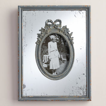 Gray Wooden Mirrored Margo Frame - World Market