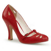 Pin Up Couture Red Smitten Pumps