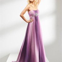 A-line strapless sweep train prom dresses 2012 PDM4024