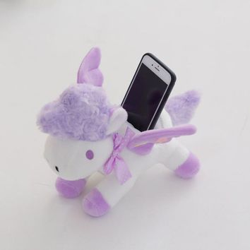 Agnes Pet Gru Film Doll Cartoon Plush Unicorn Horse Phone seat set Lucky Stuffed Animal Child Girls Toys Birthday Xams Gift Dash
