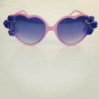 Pink Lolita Festival Flower Sunglasses Purple by PaolaLoves2Shop