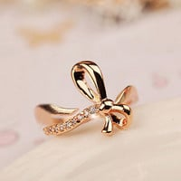 bow ring, cuff ring, adjustable ring