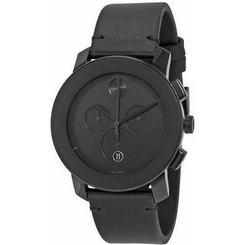 Movado Bold Leather Chronograph Men's Watch, 3600337
