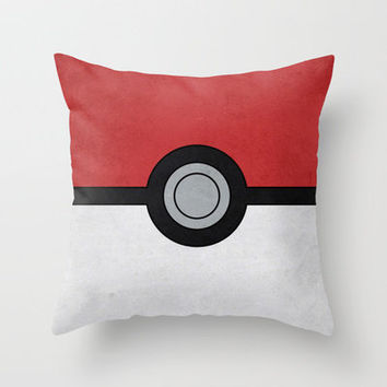 Minimal Pokéball Poster - Pokemon Classic Throw Pillow by Jorden Tually Art | Society6
