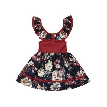 Toddler Kids Baby Flower Girl Clothes Dresses Princess Party Casual Dress Pageant Sleeveless Summer Maxi Dresses Girls 6M-5T