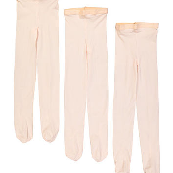 Ballet Pink Three-Pack Footed Tights - Toddler & Girls