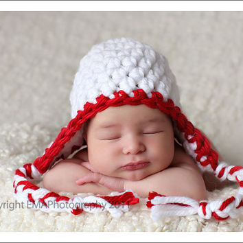 Christmas in July, Newborn Photo Props, Crochet Baby Hat, Baby Hats, Newborn Girl Hats, Newborn Photography Prop, Baby Boy Hats