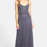 Women's Adrianna Papell Beaded Blouson Gown,