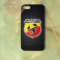 Abarth Car Logo-iPhone 5 , 5s, 5c,4s, 4 case,Ipod touch 5, Samsung GS3, GS4 case - Silicone Rubber or Hard Plastic Case, Phone cove