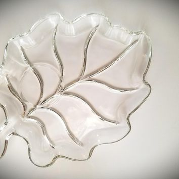 Vintage Snack Trays, Appetizer Tray, Snack Platter, Dessert Tray, Glass Tray, Vintage Snack Set