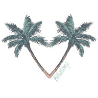 Billabong Corazon De Palms Sticker Multi One Size For Women 23197595701