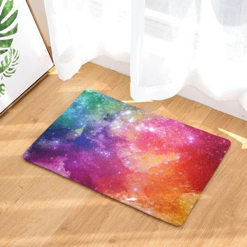 Autumn Fall welcome door mat doormat Fashion Style Watercolor Print Carpets Anti-slip Floor Mat Outdoor Rugs Colorful Front s AT_76_7