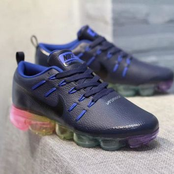 DCCK N318 Nike Air Vapormax Flyknit Leather Casual Running Shoes Dark Blue