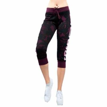 Women's Boss Camo Fleece Capri Leggings