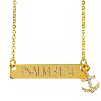 18k Gold Plated Custom Anchor Necklace