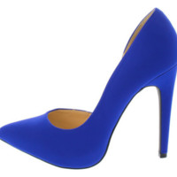 Royal Blue Pointed Toe Heel