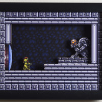 "Super Metroid (SNES) - ""The Chozo"" 3D Video Game Shadow Box with Glass Frame"