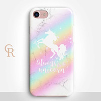 Unicorn Phone Case For iPhone 8 iPhone 8 Plus iPhone X Phone 7 Plus iPhone 6 iPhone 6S  iPhone SE Samsung S8 iPhone 5 Always be a unicorn