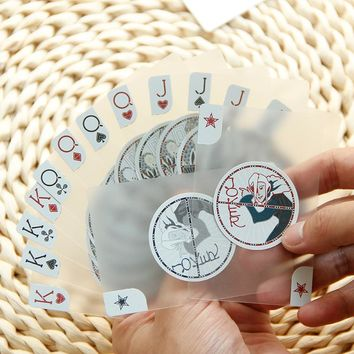 New Year - 100% Self-Design By Joker Creative Clear PVC Cards Special Poker Cards-Advanced PVC Playing Cards Pokerstars
