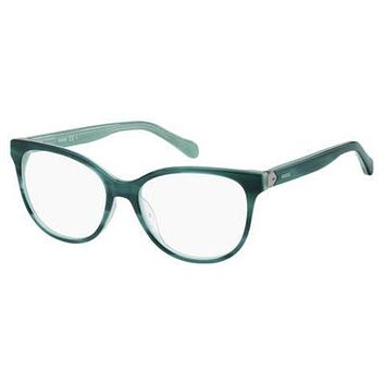 Fossil - Fos 7024 Horn Green Eyeglasses / Demo Lenses