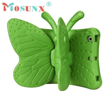 Ecosin2 Mosunx 2017 3D Cute Butterfly Shockproof EVA Foam Stand Cover For iPad Mini 1/2/3 17Mar14