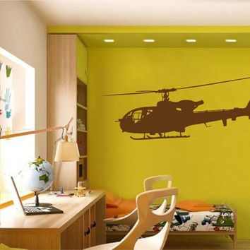 ik2321 Wall Decal Sticker military helicopter air transport children living room