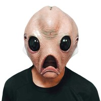 Alien Scary Mask Halloween Festival Party Cosplay Costume Supplies  Full Face Breathable Alien Horror Latex Mask Party Supplies