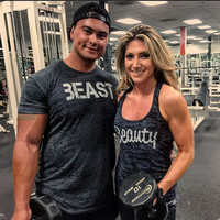 Beauty and Beast Shirt Set. Couples Workout Burnout Tops. Mens Gym Shirt. Womens Gym Tank. Fitness Tank Tops. His and Hers Workout Tanks.