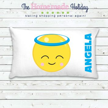 Angel Emoji Personalized Pillowcase