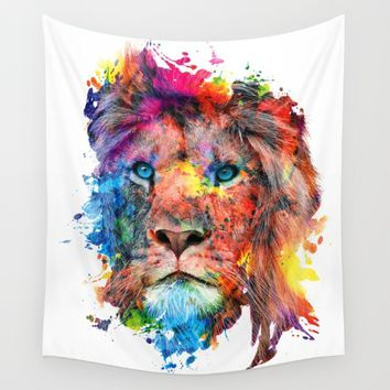 Lion Wall Tapestry by RIZA PEKER