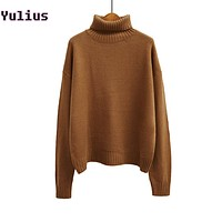 Vintage Women Sweater Bat-Wing Sleeve