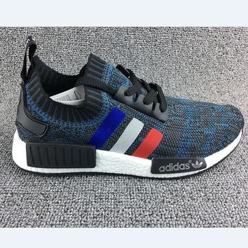 Beauty Ticks Adidas Women Running Sport Casual Shoes New Nmd Sneakers Blue White Red Line