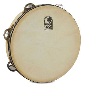 "Toca Wood Tambourine 9"" Single Row with Head"