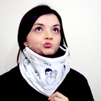 Unisex Funny Scarf Valentines Day Gift Cowl Neckwarmer under 20
