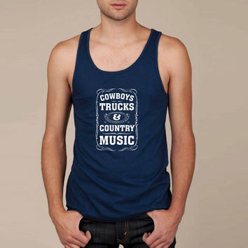 Cowboys, Trucks & Country Music Tank Top