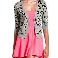 Leopard Print Button-Down Cardigan: Charlotte Russe