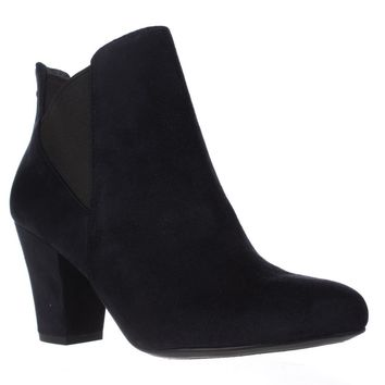 BCBGeneration Dolan Heeled Chelsea Ankle Boots, Navy/Black, 9.5 US