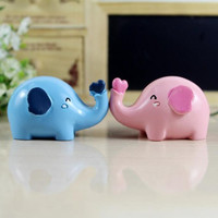 Lovely hand-painted resin kiss elephant furnishing articles / decorations home accessories wedding gift