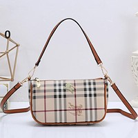 Burberry Women Fashion Leather Handbag Tote Crossbody Satchel Shoulder Bag