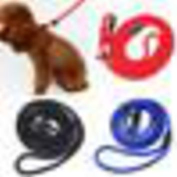 New Pet Dog Puppy Nylon Rope Training Leash Walk Lead Slip Strap Traction Collar